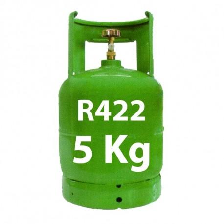 5 Kg R422 (ex R22) REFRIGERANT GAS REFILLABLE CYLINDER