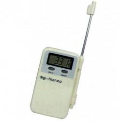 Thermometer mit abnehmbarem sonde.