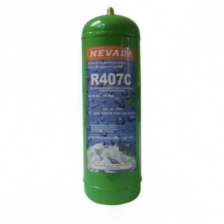 2 Kg R407c KÄLTEMITTEL NACHFULLBAR GAS FLASCHE