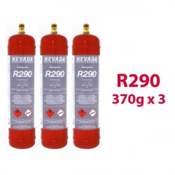 GAS R290 (propane) 3 x 370g BOTTLES